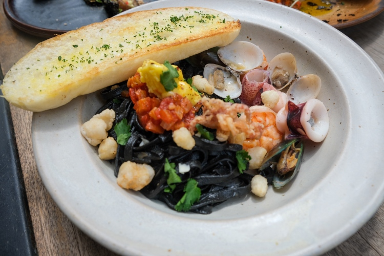 Seafood Squid Ink Pasta