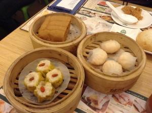 Prawn dumplings, pork siomai