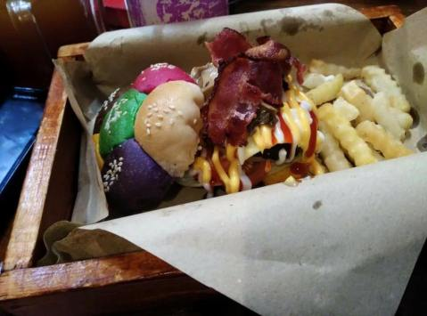 Cheesemelt Bacon Mushroom Burger
