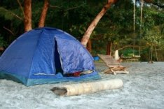 Rented tent from the boatman